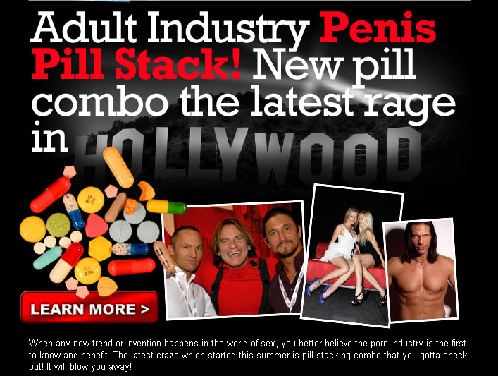 Adult Industry Penis Pill Stack